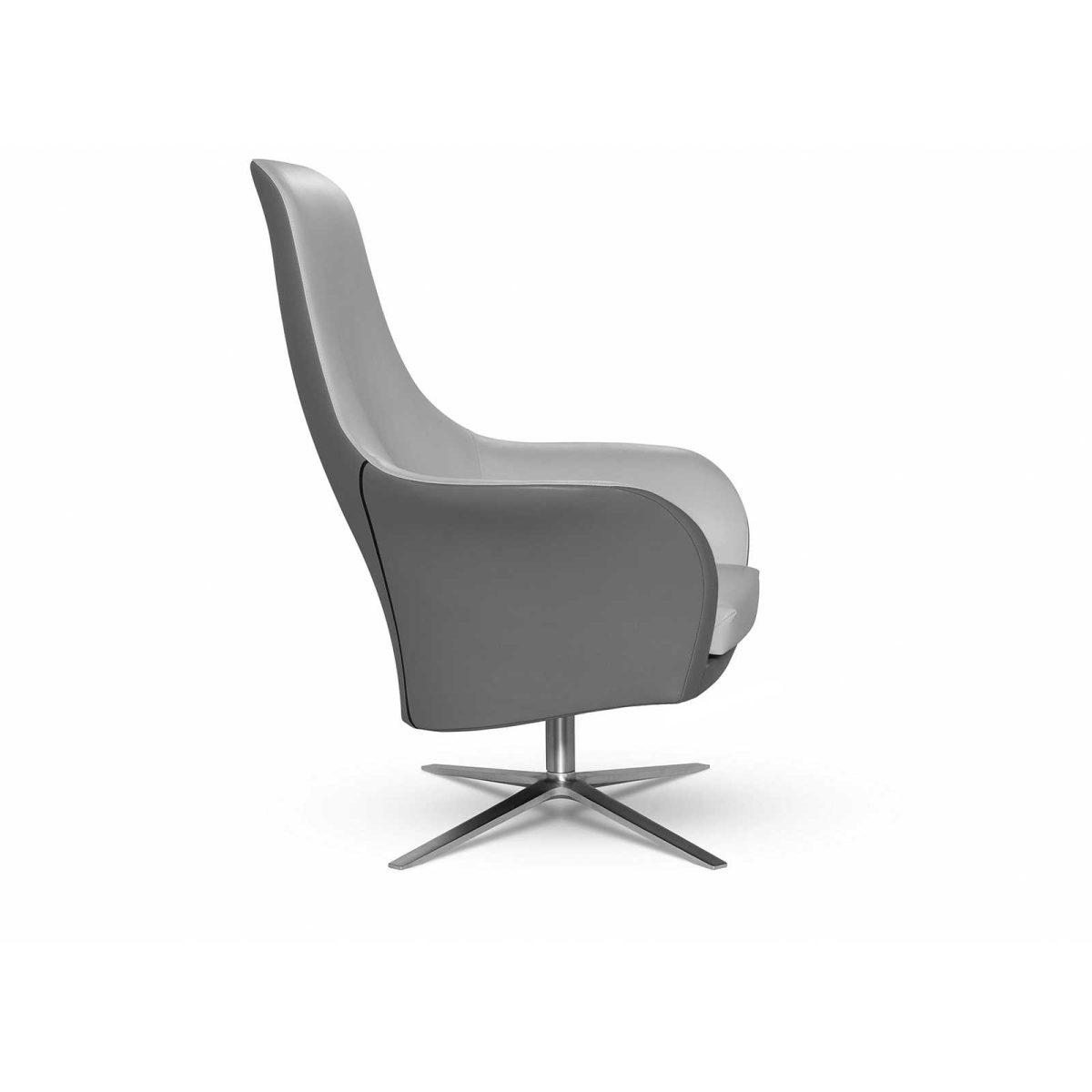 Moderner Sessel - MARVIN - MONTIS - Stoff / Leder / mit Fußstütze